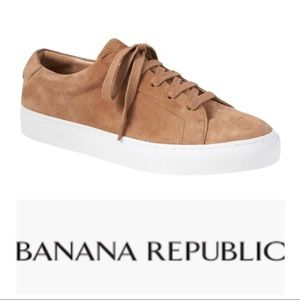 Banana Republic Suede Lace Up Sneakers